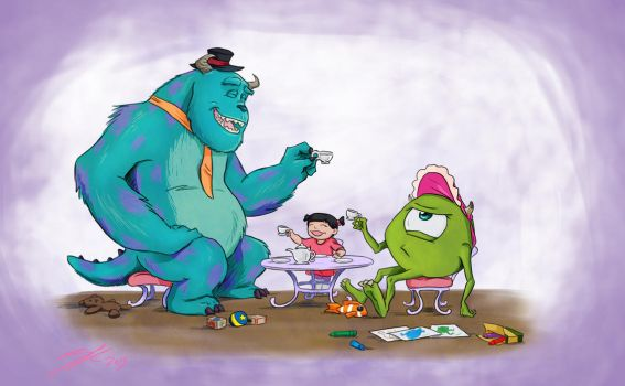 A Monster Tea Party by rice-claire