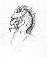 Dragon sketch by NienorGreenfield