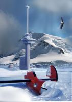 matte painting:R-dam snow fin. by San-Chan15