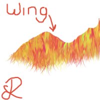 Phoenix wing test by LadyPaigeTigeress