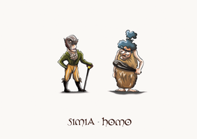 Simia/Homo by TeresaGuido