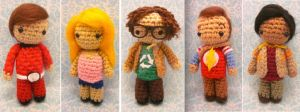 Complete Set Wee Little Big Bang Theory Amigurumi by Spudsstitches