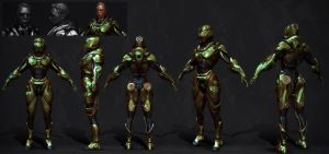 armored girl by Crashmgn