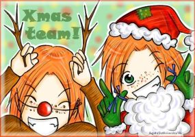 XmasCard-GeorgeAndFred by LittleLadyPunk