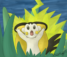 Sparks from Emolga by Speedvore