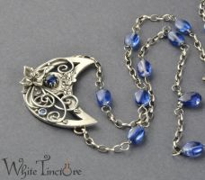 Blue Moon Necklace by WhiteTincture