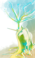 Unicorn with Tree by Famosity