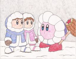 Kirby and the Ice Climbers by lemon-stockings