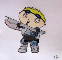Stewie Griffin as Damon Baird by BlackCorset