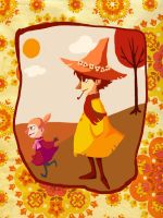 Little My and Snufkin by TackyVintage