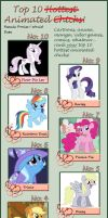 Top Ten Female Ponies in MLP I would date by Funsizefluffy