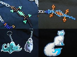 Keychains and Magnet for AWA by GuacamoleOg