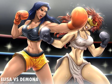 Elisa vs Demona (Gargoyles) _ Commission by Sano-BR