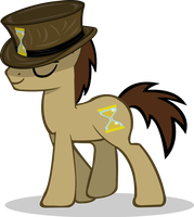 Request 7: Doctor Whooves with a hat by RiskyTheArt