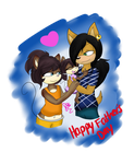 Fathers Day ::AlixBenji with April:: by SEGAgal