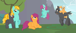 AT: Scoots gets all the pegasi plus CUTE BABBUS by Strawberry-Spritz