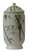 Green bamboos apothecary pot - PNG by HermitCrabStock