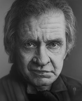 Johnny cash by MRailas-art