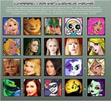 Character Influence Map by GothicKitta