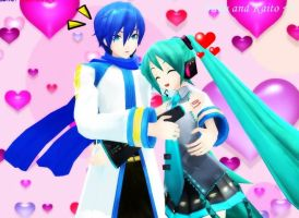 Project Diva - Miku and Kaito by Peachy-Pink10