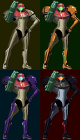Metroid Prime Anniversary: Samus Aran's Suits by KillPanzer