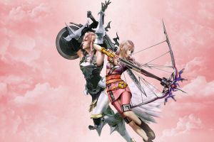 Lightning and Serah Wallpaper by ShinraWallpapers