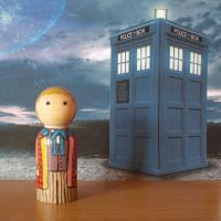 The Sixth Doctor peg doll by jen-random