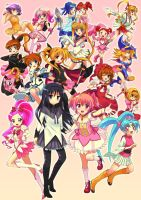 Shing Magical Girls Poster by yo-chaosangel