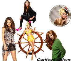 Selena Gomez Png Pack by CaritooEdittions