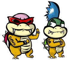 Larry and Roy Koopa by DrewGreen