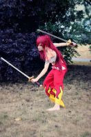 Erza Scarlet (Japanese cloth) - Fairy Tail cosplay by AnitramNoriko