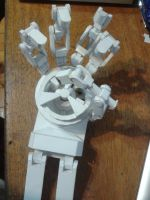 Mechanical Papercraft Hand.. by Wolfrem