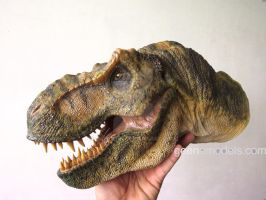 T Rex hand puppet Green version by GalileoN