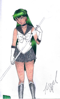 Unfinished Sailor Pluto by childofthorns