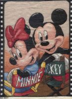 Mickey + Minnie by OronoStitcher