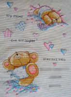 Forever Friends Birth Sampler by Tishounette
