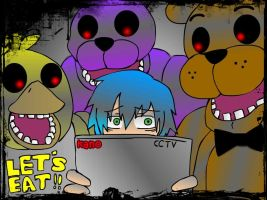 Five Nights at Freddy's     security guard  Kano by htfkaru