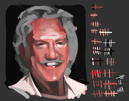 Donald Sutherland in 100 Brush Strokes by le-mec