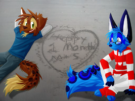 Happy 1 month M+S! 8D by ScottishPeppers