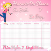 Horario De Clases Cool by NiceStyles