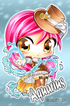 Aquarius:::Chibi by AmeigaArt