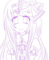 Pastel Lolita girl lineart (WIP) by MewRayearth15