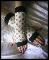 Sweet Skull Lolita Arm Warmers by ZenAndCoffee