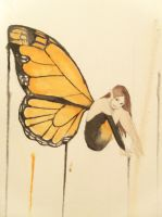 Monarch Butterfly Faerie- Watercolor by AWishInTheNight