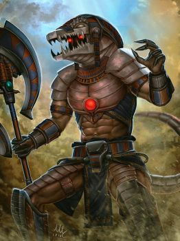 Humanized Death Dealer Sobek - Smite by Sciamano240