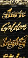 Shiny Gold Photoshop Styles 3of3 by GraphicAssets