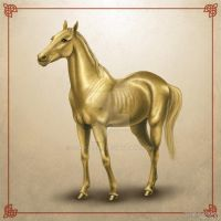 Golden horse by scargeear