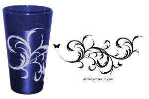Cobalt Glass Design by dizzyflower28