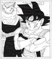 Piccolo and Bardock penned by RoSohryu