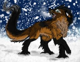 Lox the Arctic Draghound by GenkoFox